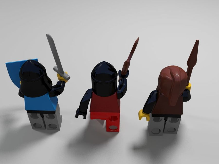 Lego-tekens royalty-free 3d model - Preview no. 7