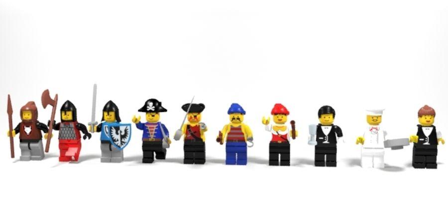 Personnages de Lego royalty-free 3d model - Preview no. 1