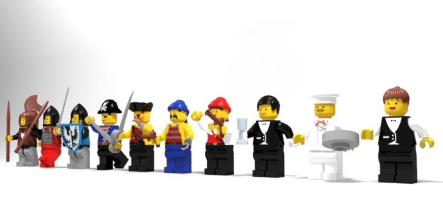 Personnages de Lego royalty-free 3d model - Preview no. 2
