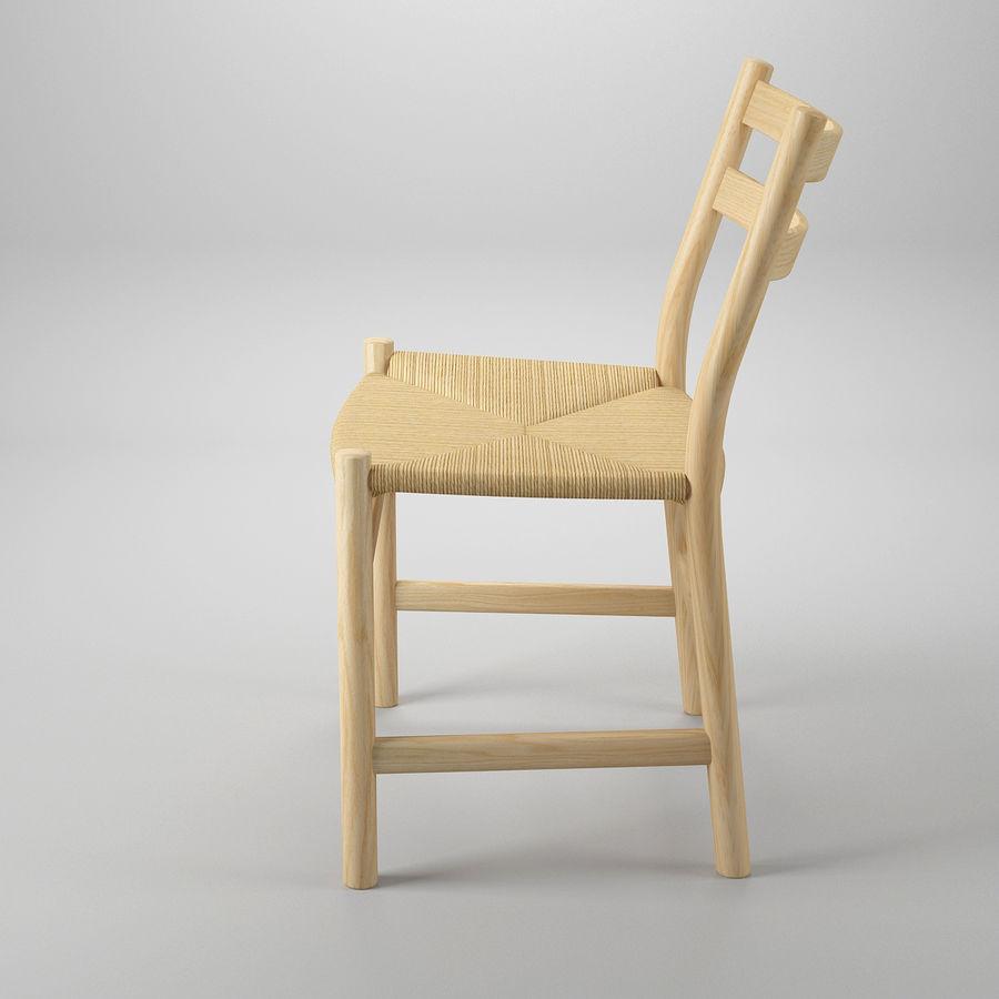 CH47 Hans J. Wegner Chair royalty-free 3d model - Preview no. 4