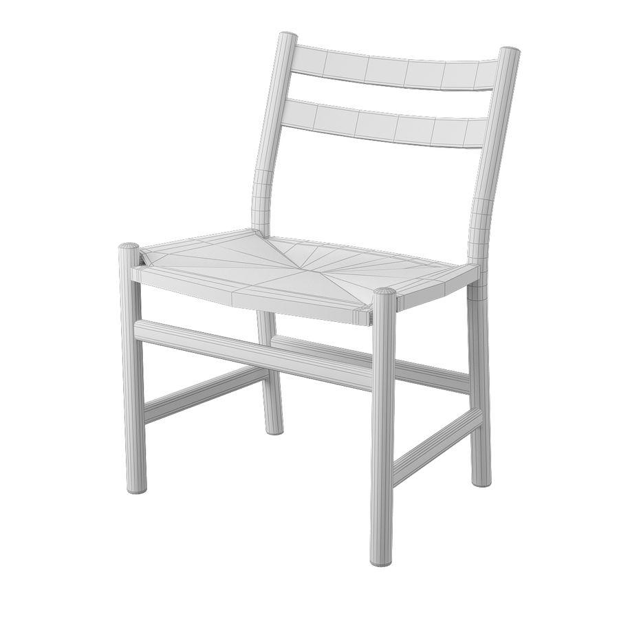 CH47 Hans J. Wegner Chair royalty-free 3d model - Preview no. 7