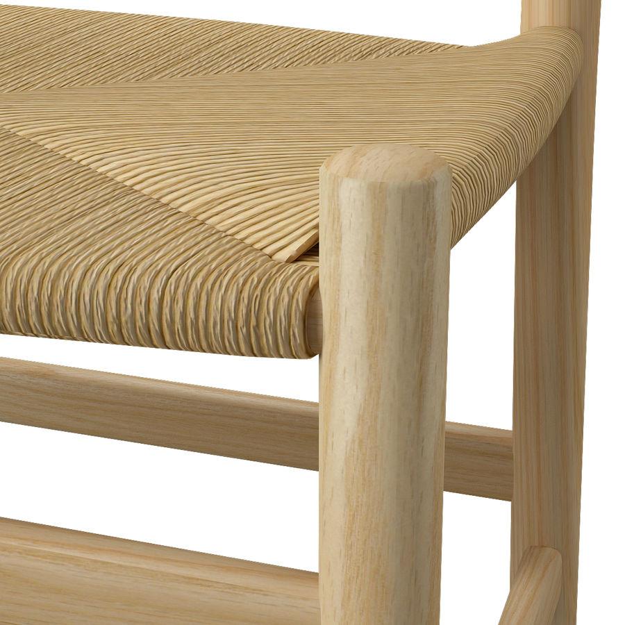 CH47 Hans J. Wegner Chair royalty-free 3d model - Preview no. 11