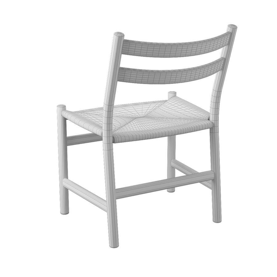 CH47 Hans J. Wegner Chair royalty-free 3d model - Preview no. 10