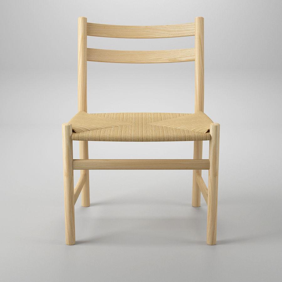CH47 Hans J. Wegner Chair royalty-free 3d model - Preview no. 3