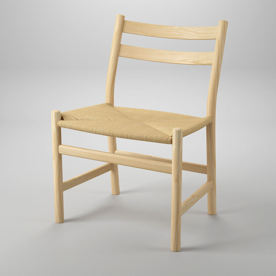 CH47 Hans J. Wegner Chair royalty-free 3d model - Preview no. 2