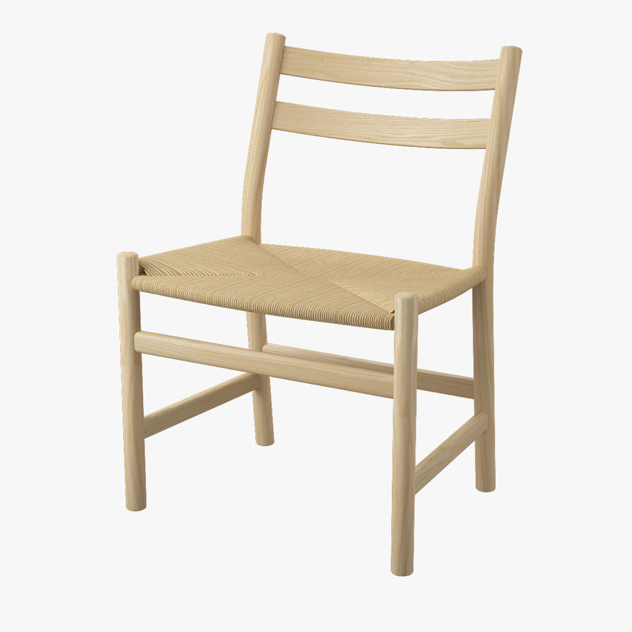 CH47 Hans J. Wegner Chair Royalty Free 3d Model   Preview No. 1
