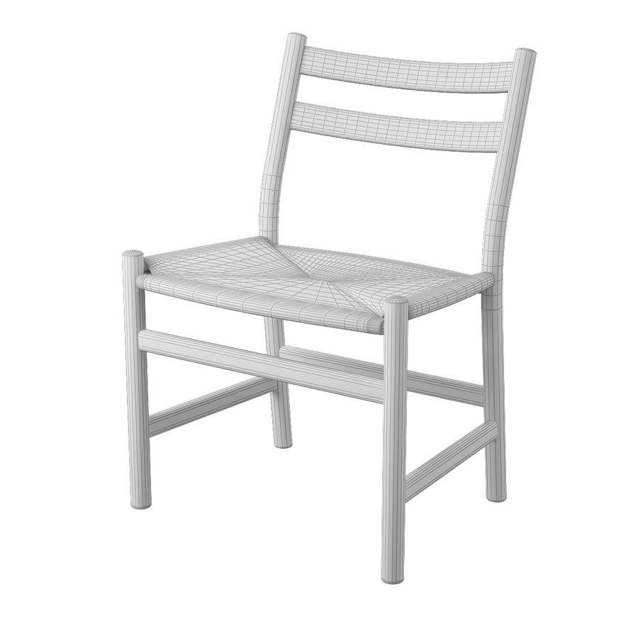 CH47 Hans J. Wegner Chair royalty-free 3d model - Preview no. 8