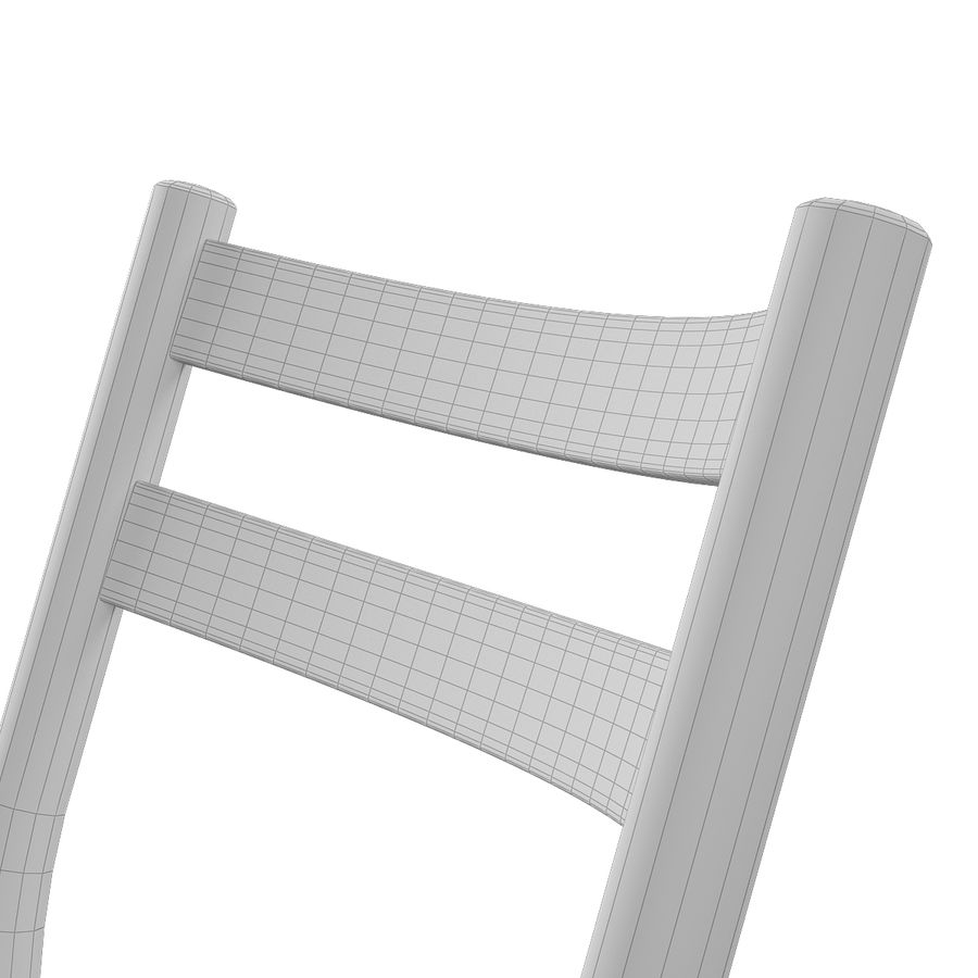 CH47 Hans J. Wegner Chair royalty-free 3d model - Preview no. 14
