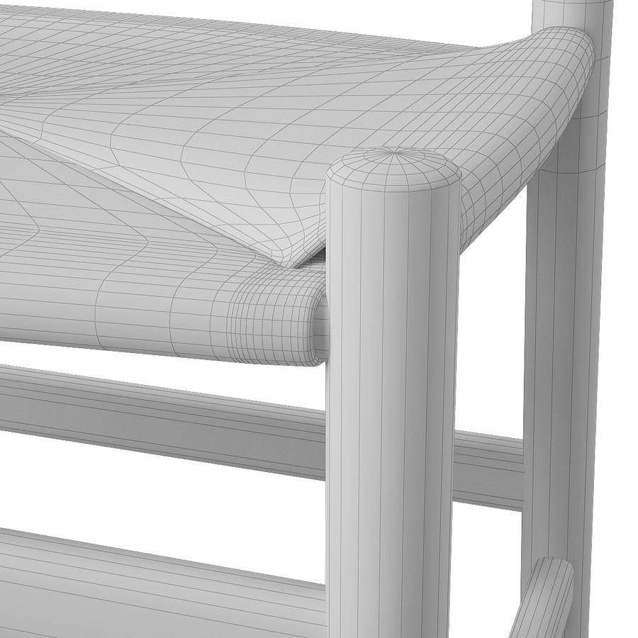 CH47 Hans J. Wegner Chair royalty-free 3d model - Preview no. 12