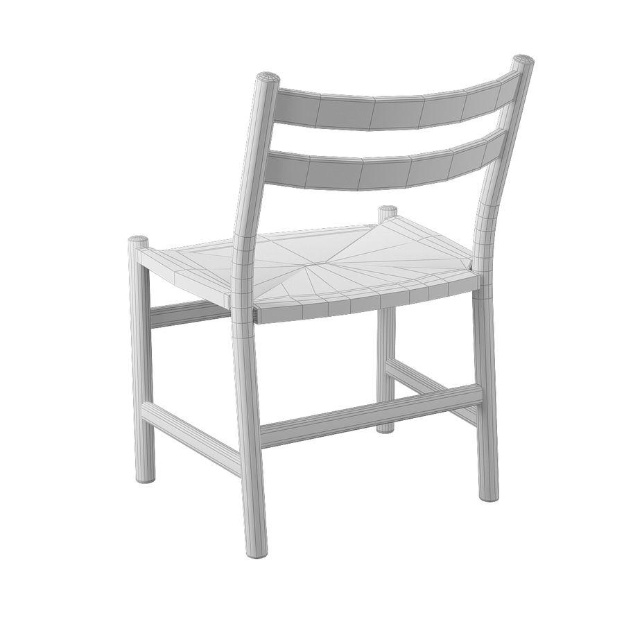 CH47 Hans J. Wegner Chair royalty-free 3d model - Preview no. 9