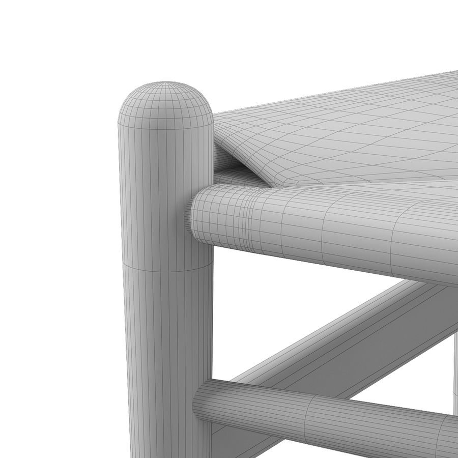 CH36 Hans J. Wegners chair royalty-free 3d model - Preview no. 12