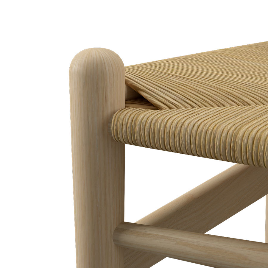CH36 Hans J. Wegners chair royalty-free 3d model - Preview no. 11