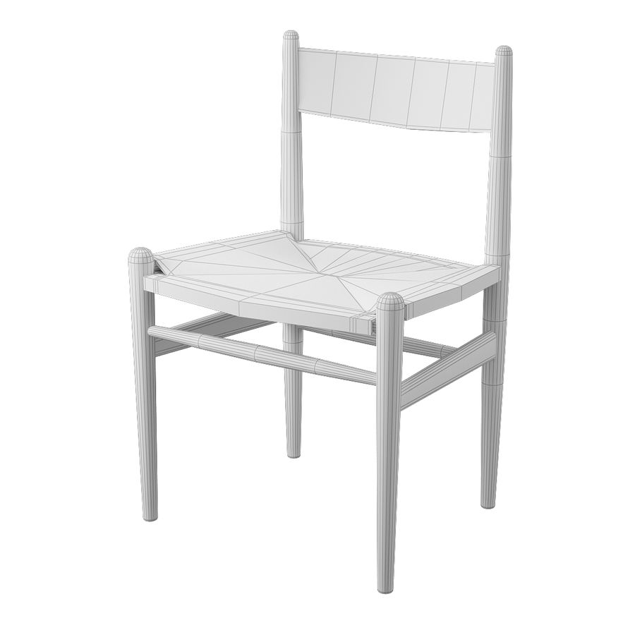 CH36 Hans J. Wegners chair royalty-free 3d model - Preview no. 7