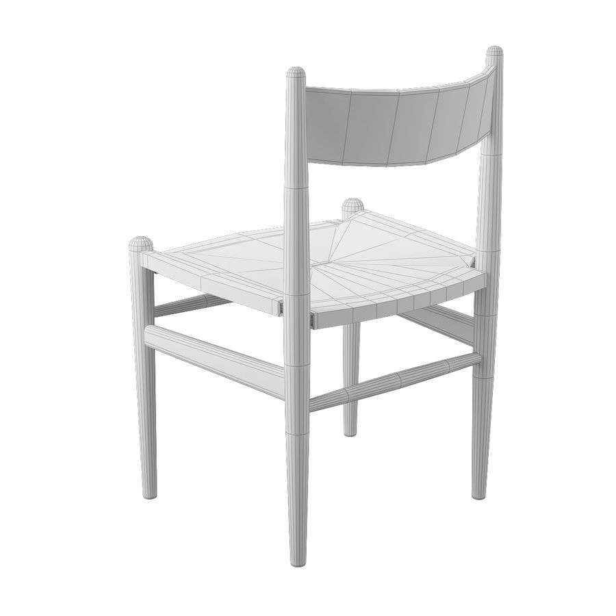 CH36 Hans J. Wegners chair royalty-free 3d model - Preview no. 9