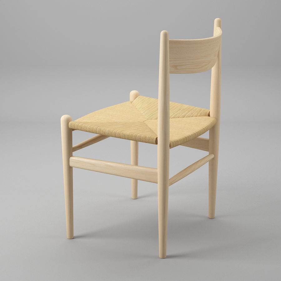 CH36 Hans J. Wegners chair royalty-free 3d model - Preview no. 5