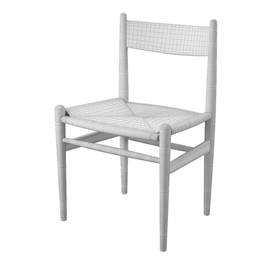 CH36 Hans J. Wegners chair royalty-free 3d model - Preview no. 8