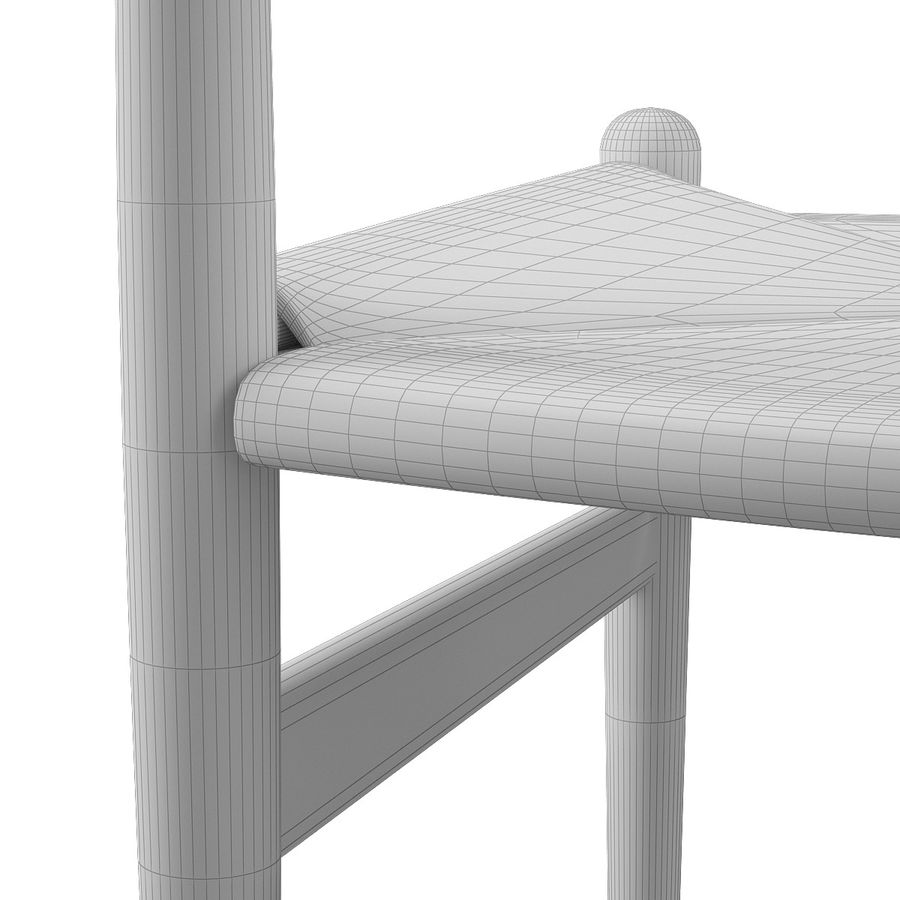 CH36 Hans J. Wegners chair royalty-free 3d model - Preview no. 16