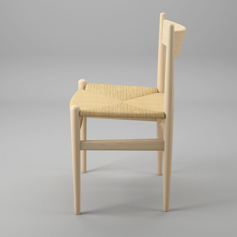 CH36 Hans J. Wegners chair royalty-free 3d model - Preview no. 4