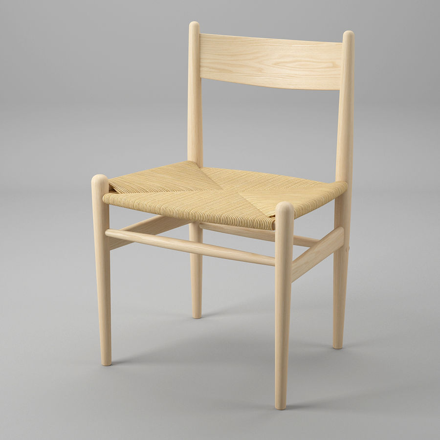 CH36 Hans J. Wegners chair royalty-free 3d model - Preview no. 2