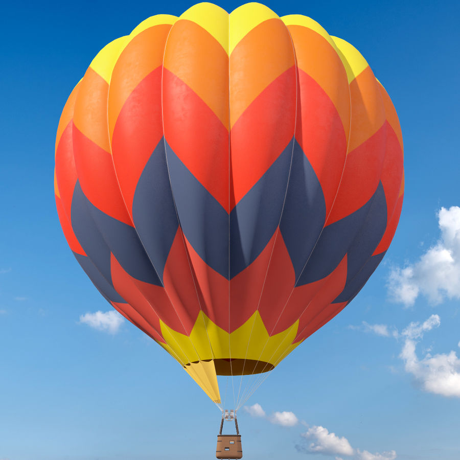 Hot Air Balloon royalty-free 3d model - Preview no. 2