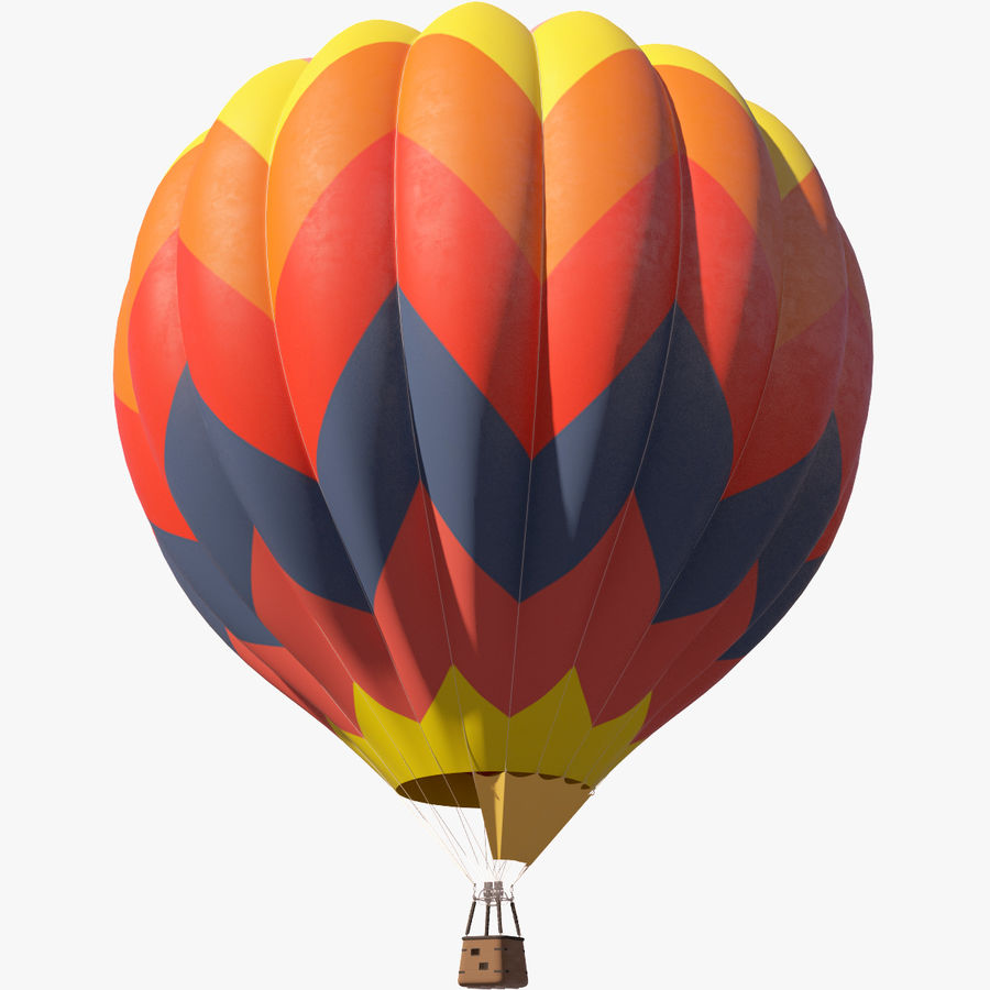 Hot Air Balloon royalty-free 3d model - Preview no. 4