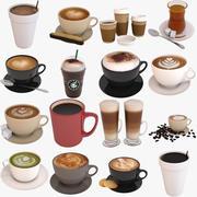Коллекция кофе 3d model
