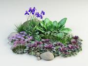 flower composition 3d model