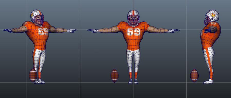 足球运动员 royalty-free 3d model - Preview no. 3