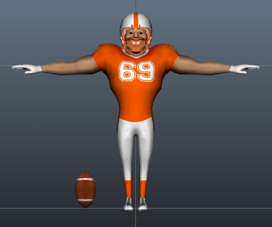 足球运动员 royalty-free 3d model - Preview no. 5