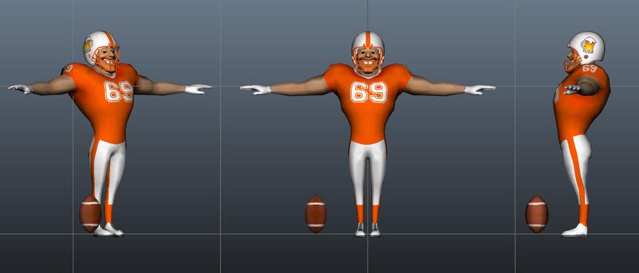 足球运动员 royalty-free 3d model - Preview no. 2