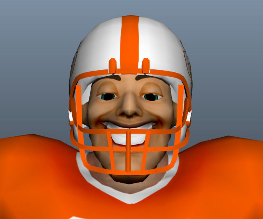 足球运动员 royalty-free 3d model - Preview no. 1