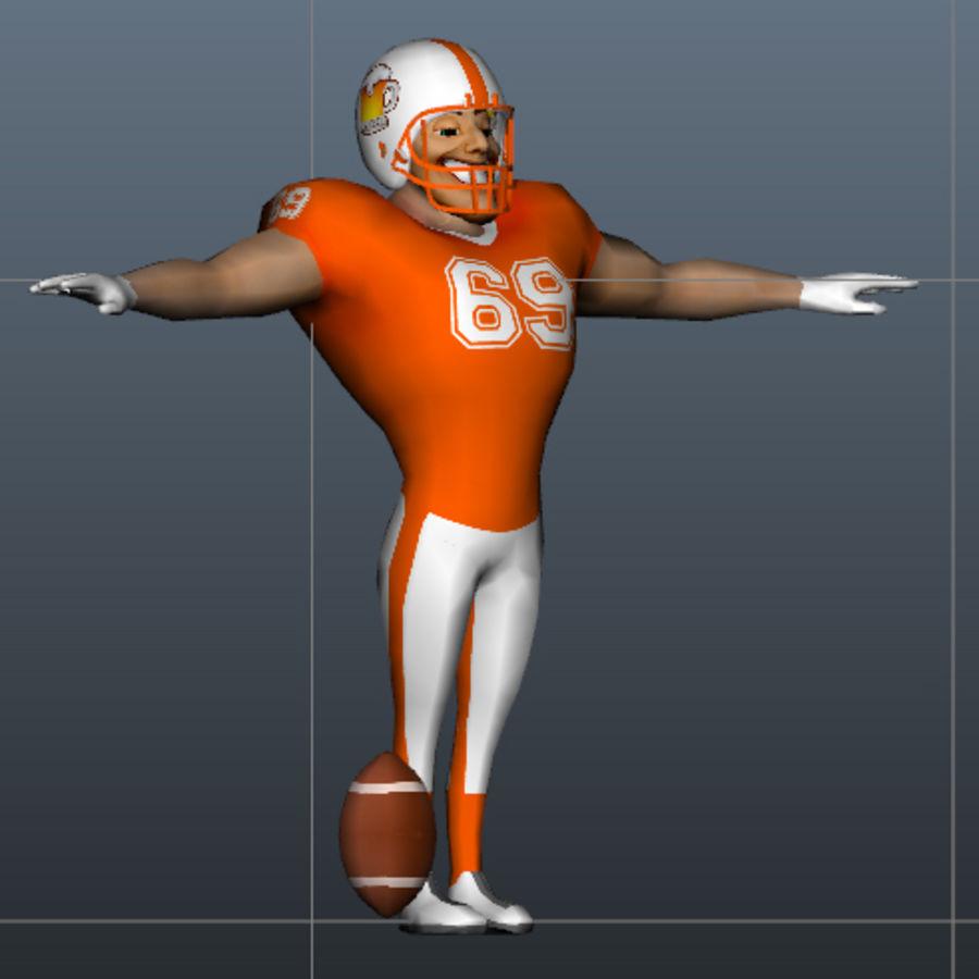 足球运动员 royalty-free 3d model - Preview no. 4