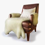 Designer Lounge Chair - Fur 3d model