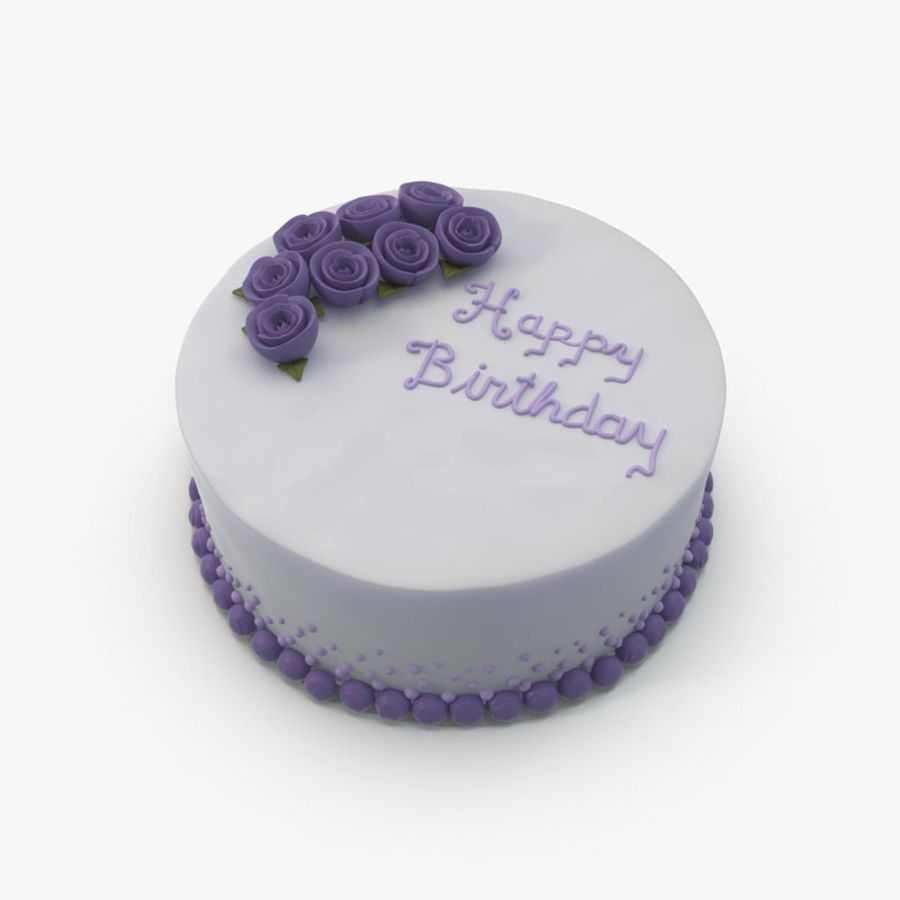 Birthday Cake 3d Model 29 Obj Fbx X Free3d
