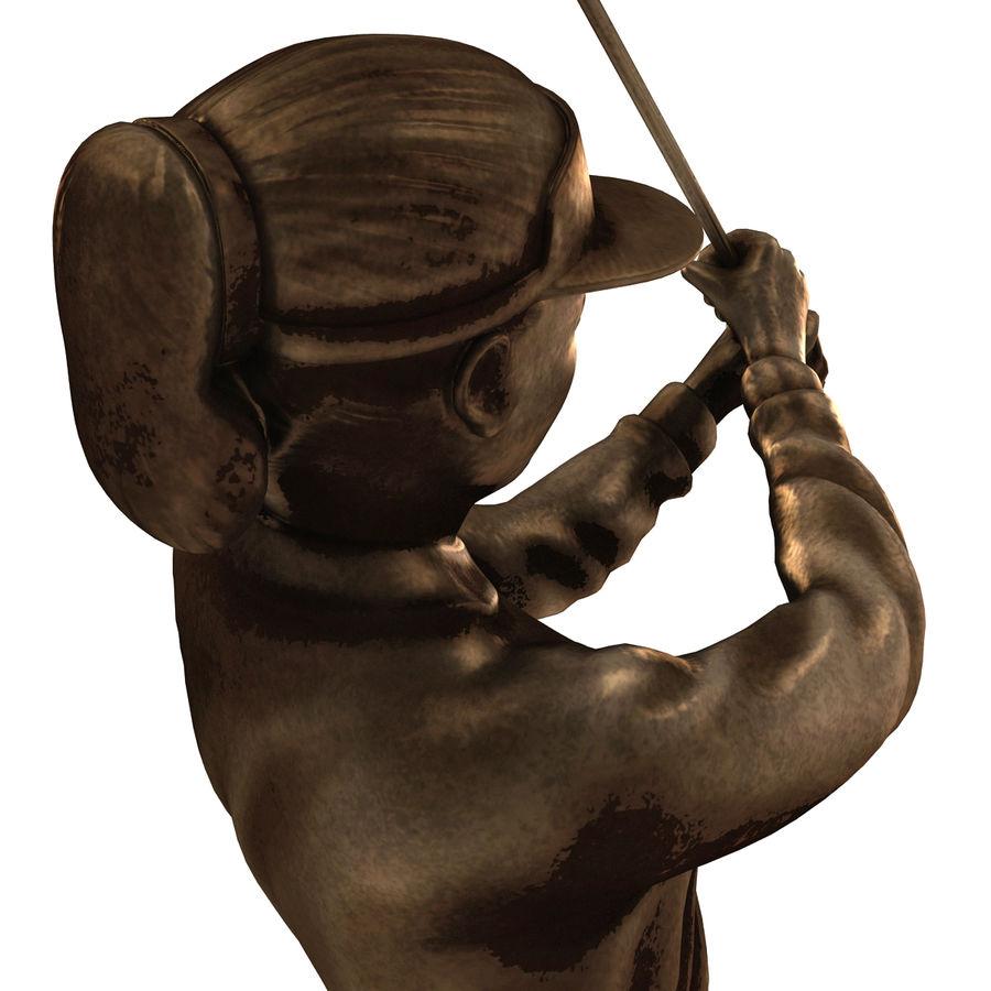 Trofeo femminile del golfista royalty-free 3d model - Preview no. 12