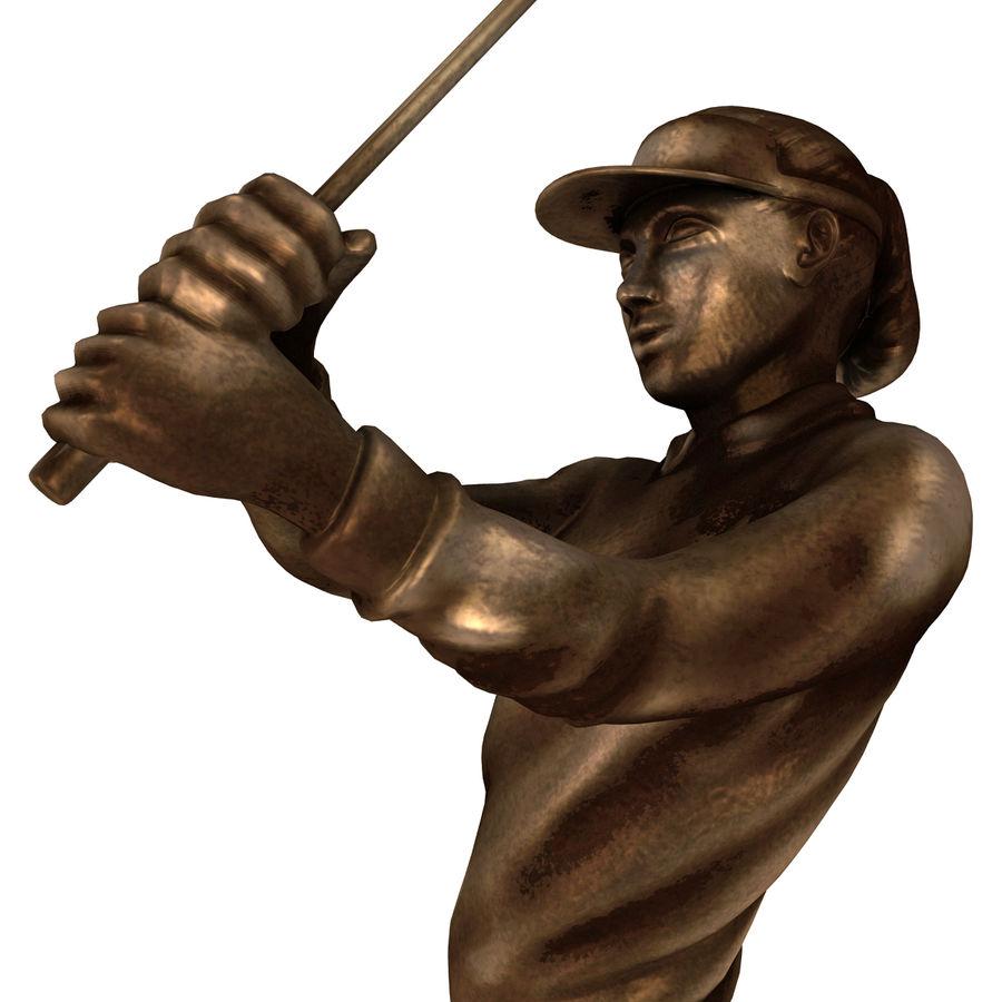Trofeo femminile del golfista royalty-free 3d model - Preview no. 11