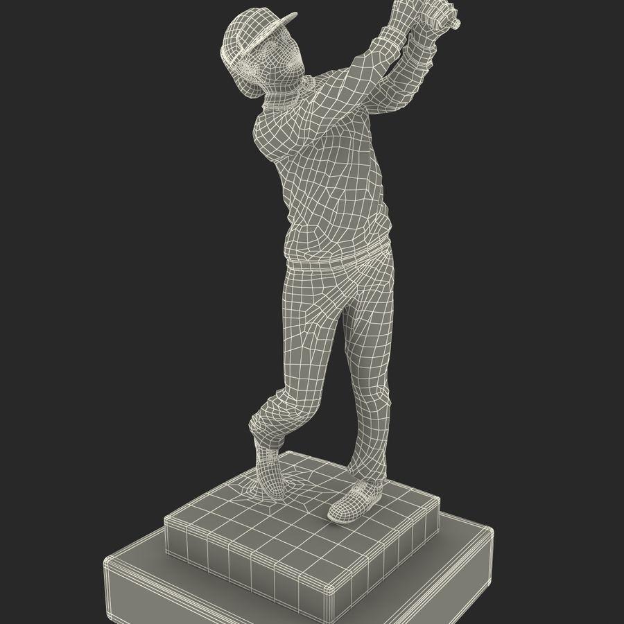 Trofeo femminile del golfista royalty-free 3d model - Preview no. 19