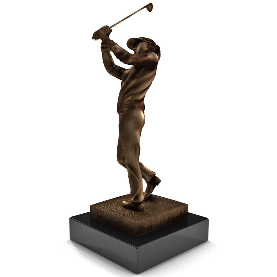 Trofeo femminile del golfista royalty-free 3d model - Preview no. 4