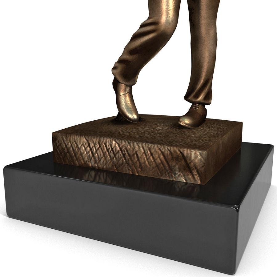 Trofeo femminile del golfista royalty-free 3d model - Preview no. 8