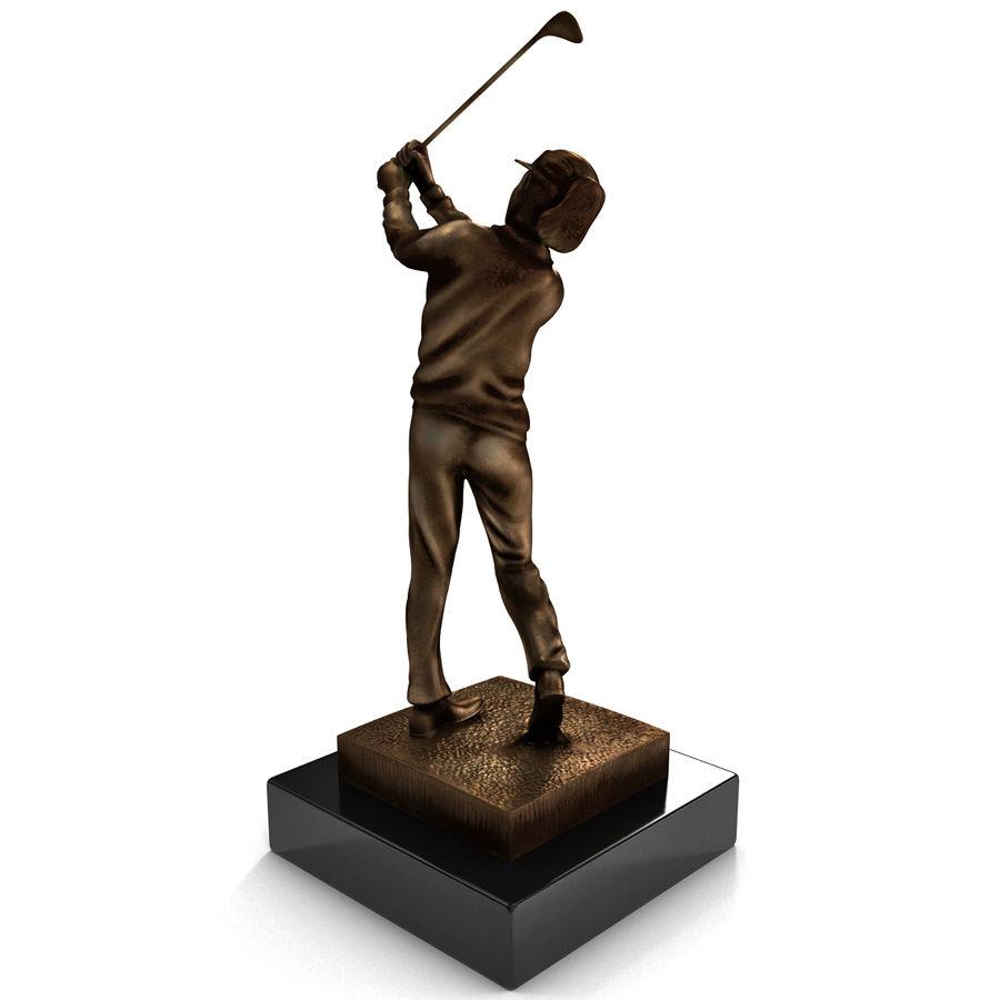 Trofeo femminile del golfista royalty-free 3d model - Preview no. 6