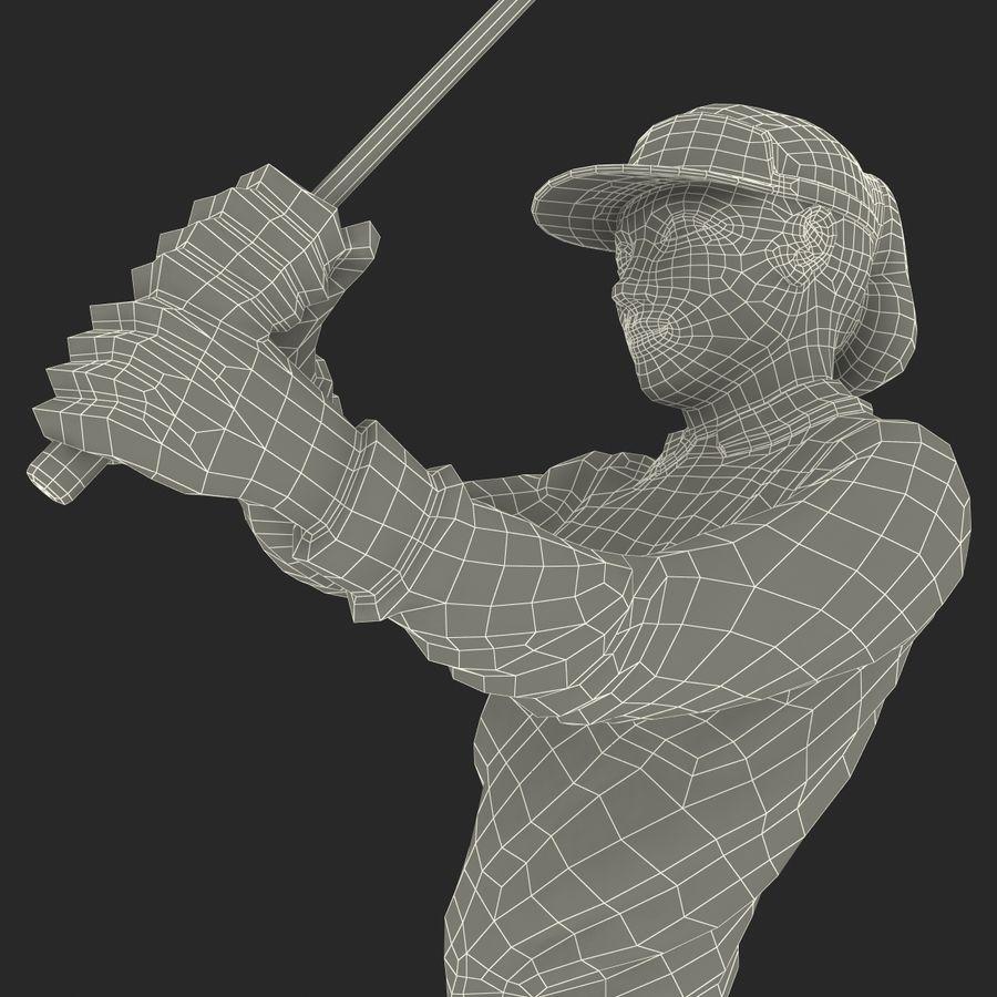 Trofeo femminile del golfista royalty-free 3d model - Preview no. 23