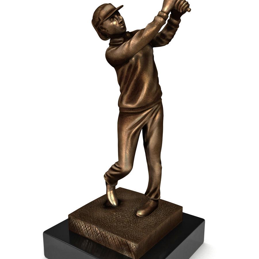 Trofeo femminile del golfista royalty-free 3d model - Preview no. 7