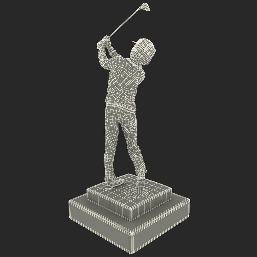 Trofeo femminile del golfista royalty-free 3d model - Preview no. 18