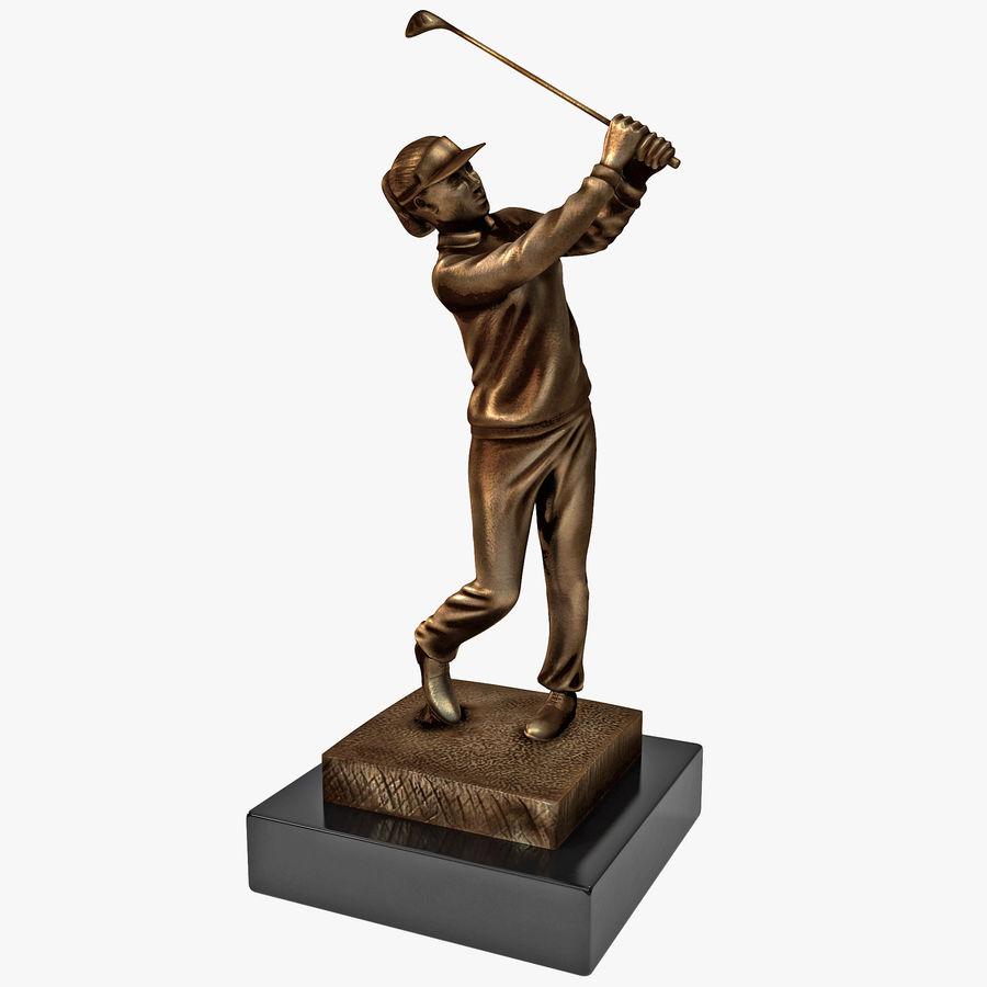 Trofeo femminile del golfista royalty-free 3d model - Preview no. 1