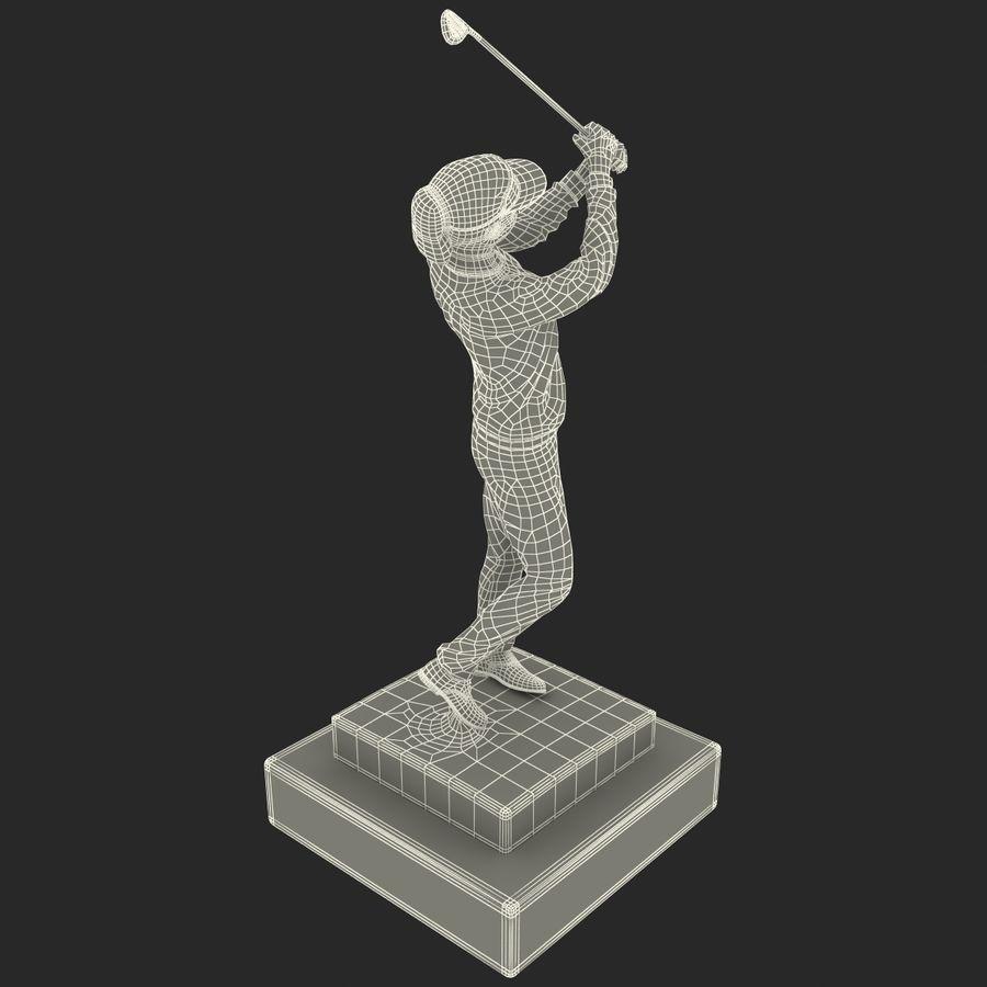 Trofeo femminile del golfista royalty-free 3d model - Preview no. 17