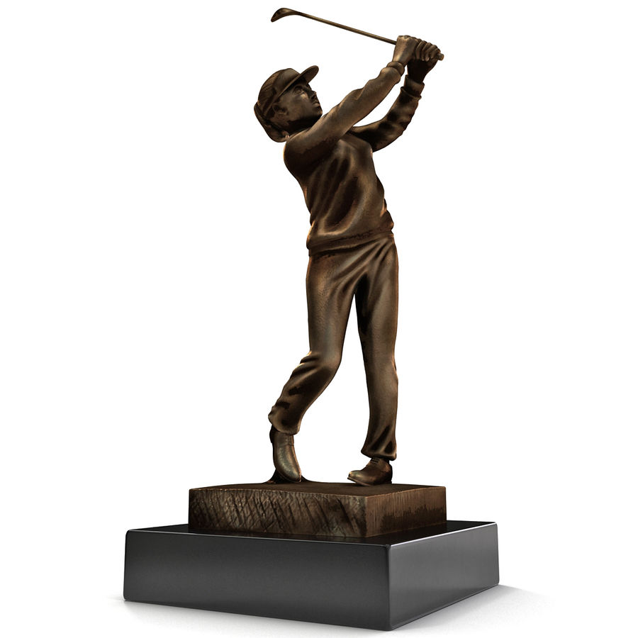 Trofeo femminile del golfista royalty-free 3d model - Preview no. 15