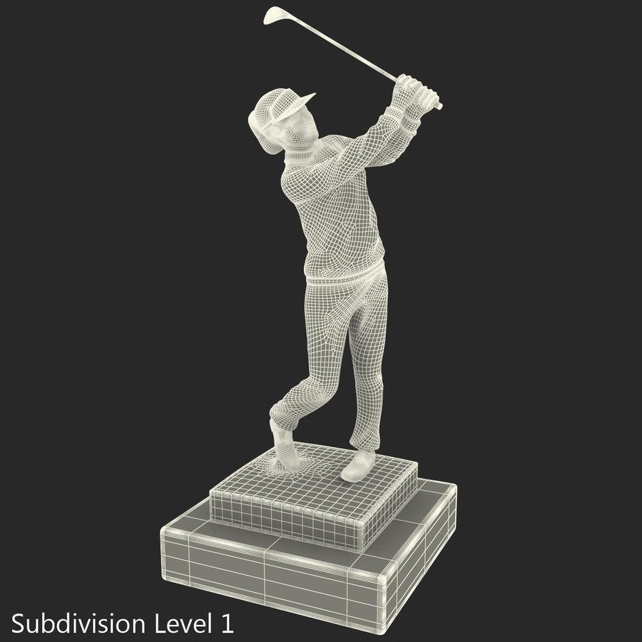 Trofeo femminile del golfista royalty-free 3d model - Preview no. 29