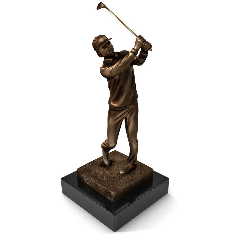 Trofeo femminile del golfista royalty-free 3d model - Preview no. 3