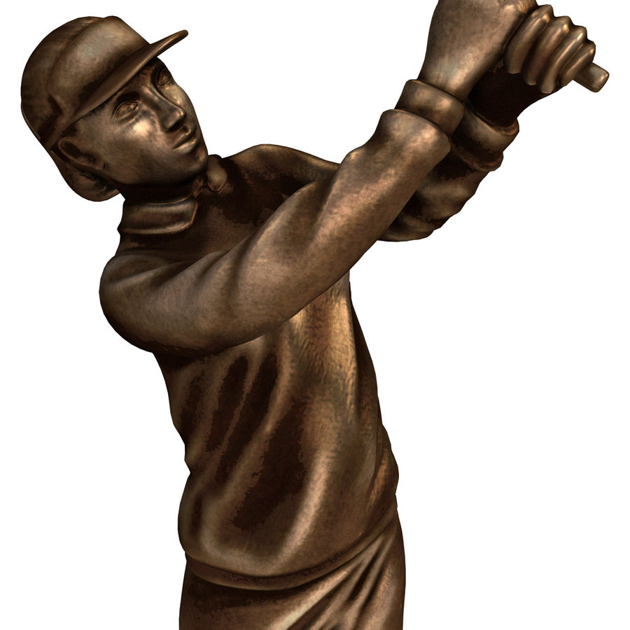 Trofeo femminile del golfista royalty-free 3d model - Preview no. 10