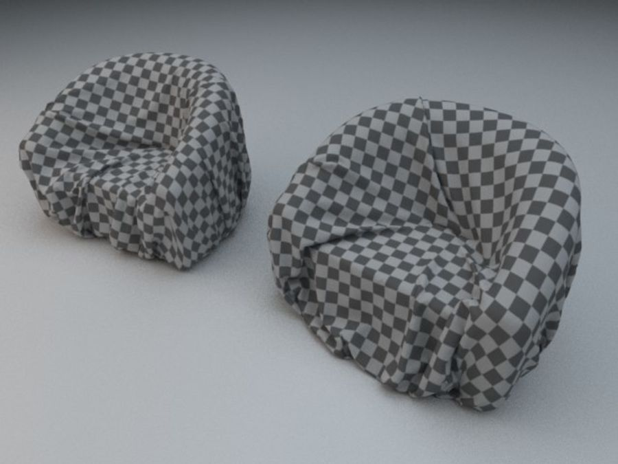Fabric cover royalty-free 3d model - Preview no. 1